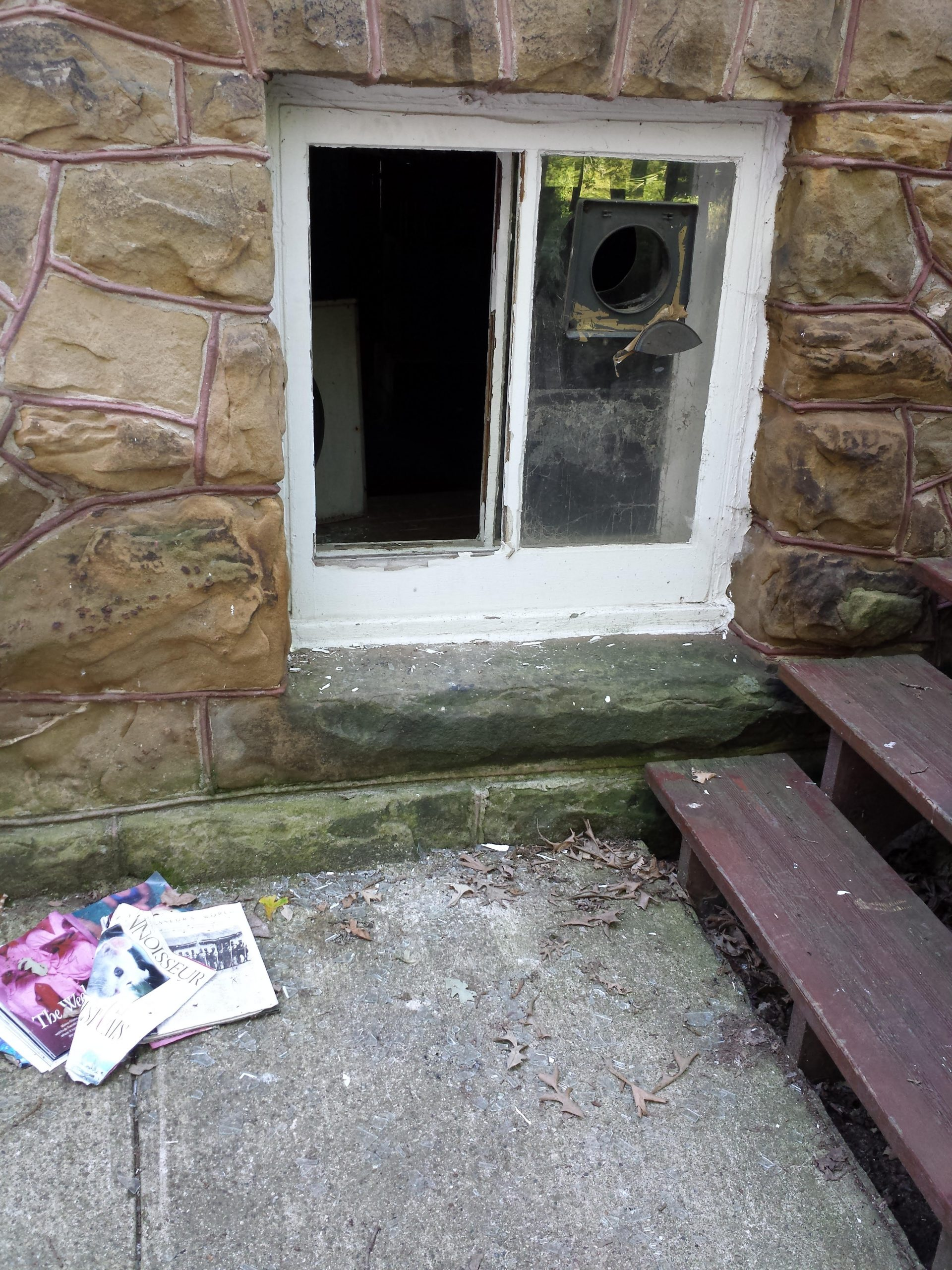 Vandals broke into the home after the Koessels moved out.