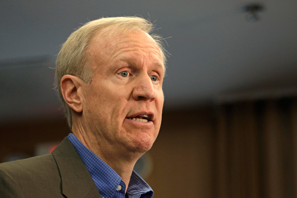 Republican Bruce Rauner has given more than $6.5million to his own campaign for governor, allowing all donors to give as much as they want in therace.