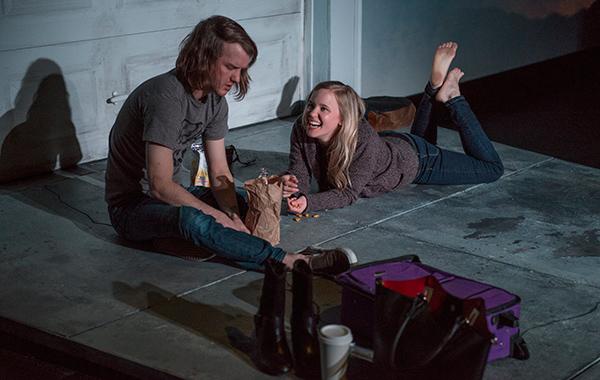 Matt Farabee and Kelly O'Sullivan in American Theater Company's <i>Bruise Easy</i>