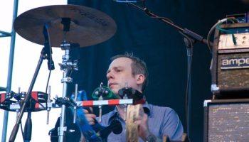 John McEntire performing with Broken Social Scene at Pitchfork