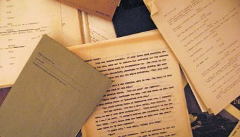 Play scripts and short stories found in the suitcase.