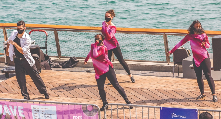 Desueño Dance at 2020 Chicago Dance Month's Wave Wall Moves on Navy Pier