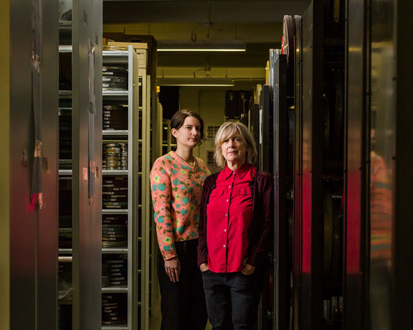 Collections manager Anne Wells and executive director Nancy Watrous