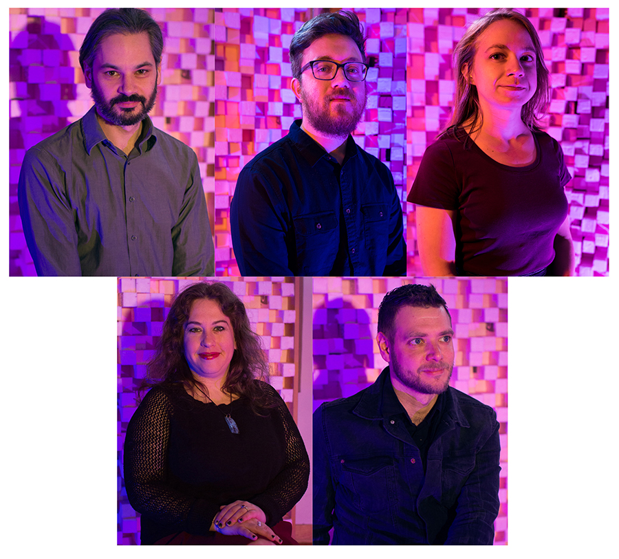 ESS staff: managing director Adam Vida, technical director and chief engineer Alex Inglizian, development and outreaach director Olivia Junell, archivist Allison Schein, and marketing and communications director Dan Mohr
