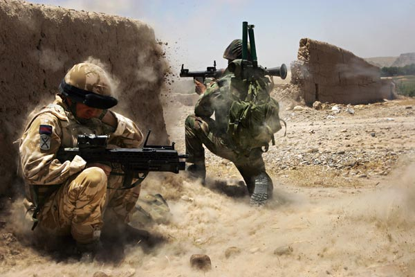 Afghanistan: British and Afghan troops battle Taliban