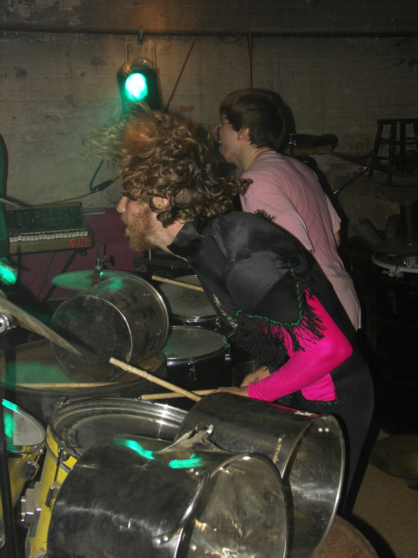 Seth Sher and Jon Ziemba of Coughs at Mr. City in October 2005