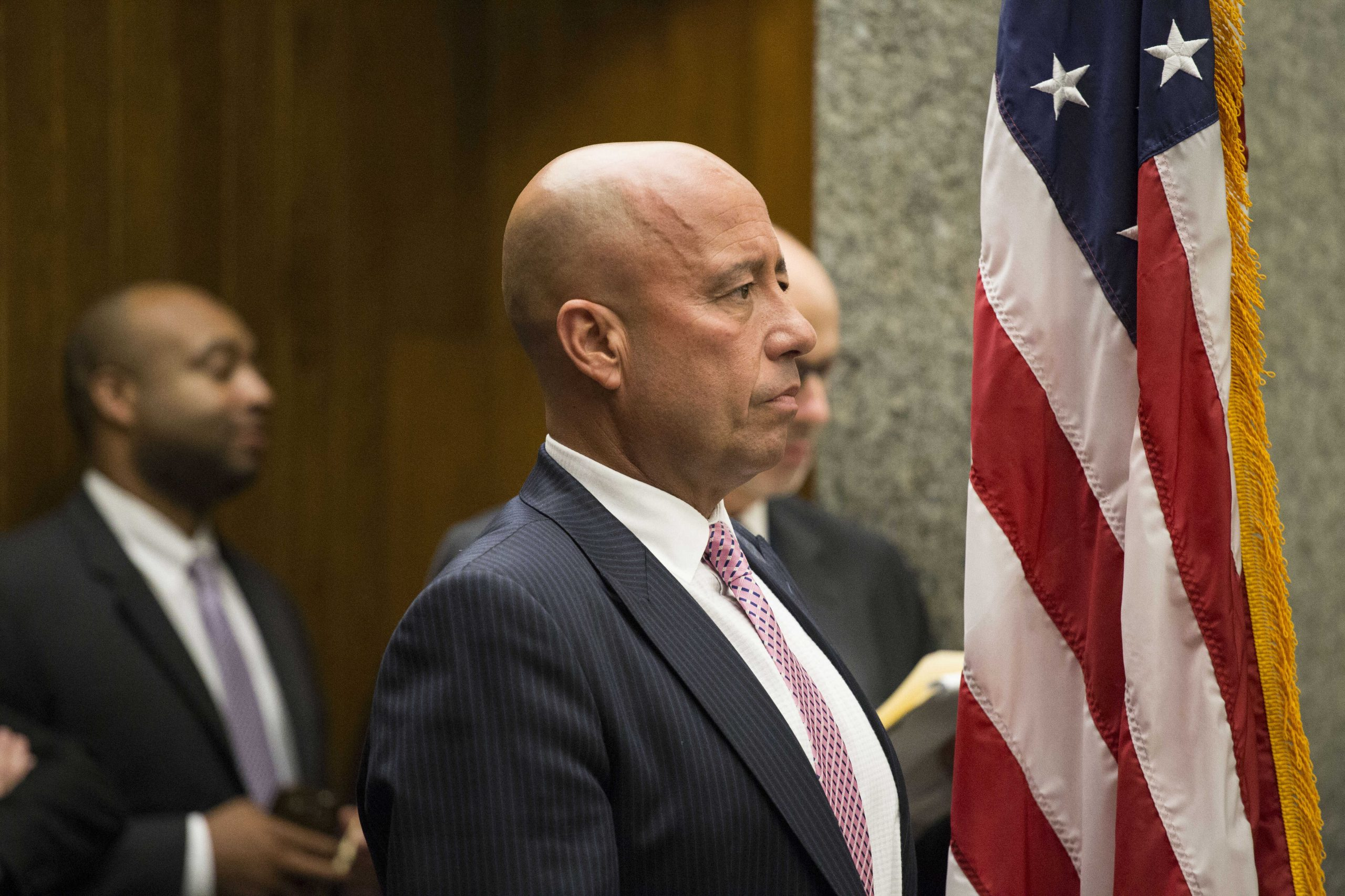 """Cook County commissioner John Fritchey, shown here at a 2015 meeting, spearheaded a successful effort to amend county tax code to make it clear that officials are not in the business of defining """"fine art."""""""