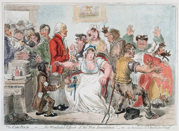 """An """"antivaxxer"""" political cartoon from 1809"""