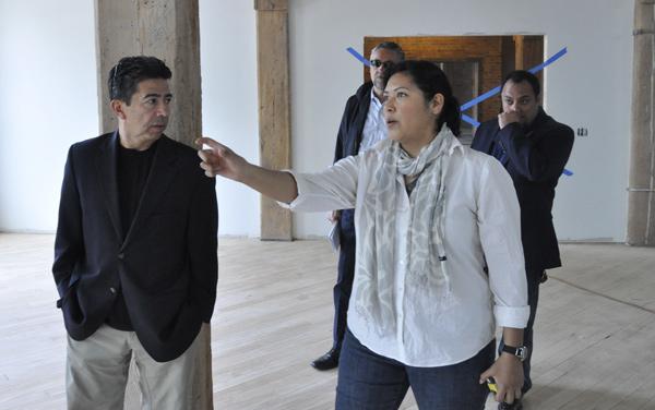 Lauren Pacheco with Ald. Daniel Solis, the United Neighborhood Organization's Philip Mullins, and Juan Rangel, CEO of UNO