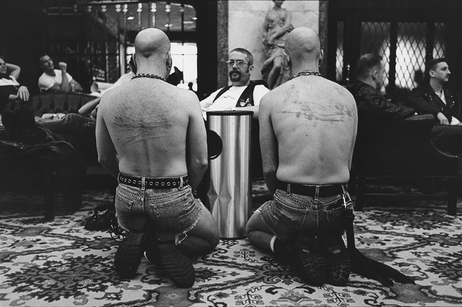 """<b><i>International Mr. Leather at Congress Hotel</i>, 1997<br/> By Cynthia Howe for """"Male Bonding""""</b>"""