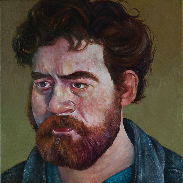 The cover of <i>Daniel Knox</i> is a portrait painting by Gregory Jacobsen.