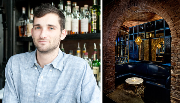 """Danny Shapiro, the creative force behind Scofflaw's cocktails, stops short of an """"exclusively gin"""" joint such as New York's Madam Geneva (right)."""