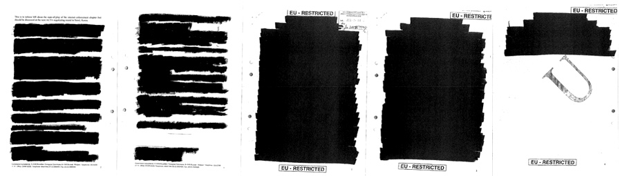 ACTA documents released this fall to Tobias Olsson of the Swedish newspaper Svenska Dagbladet