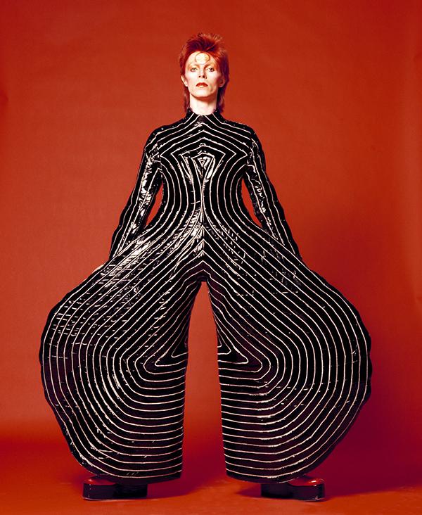 David Bowie in a Kansai Yamamoto jumpsuit from the <i>Aladdin Sane</i> tour
