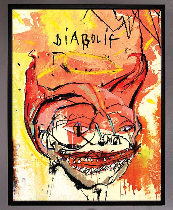 Diabolic Self Portrait by Erik DeBat