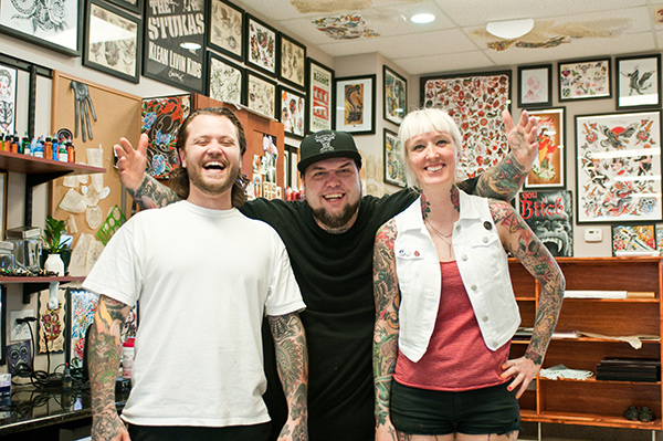 Jim Little, Dustin Golden, and Amanda Hart
