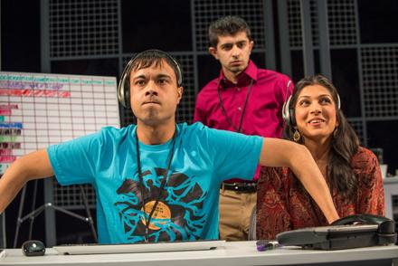 Debargo Sanyal, Behzad Dabu, and Minita Gandhi in Disconnect