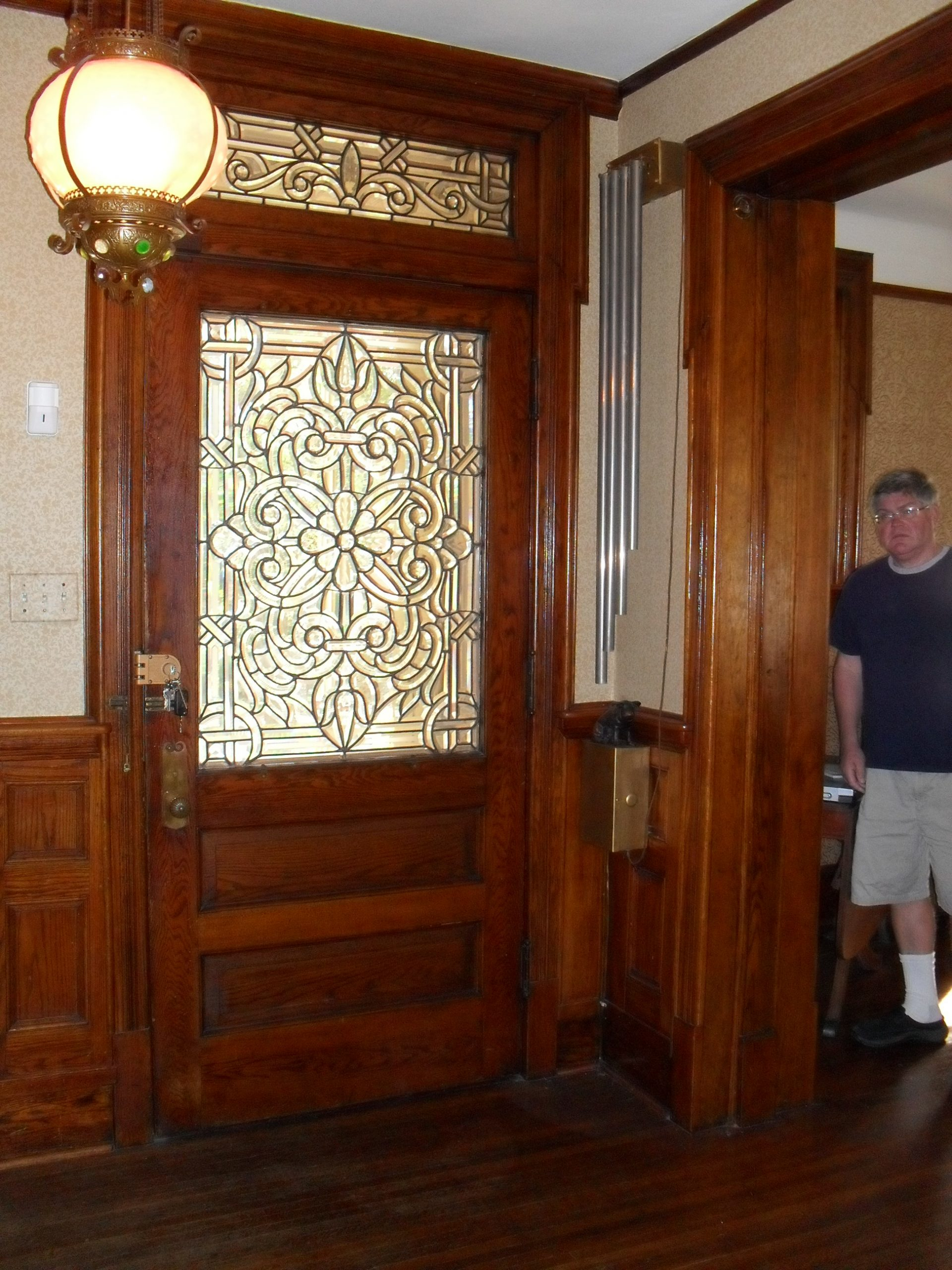 There was leaded glass and woodwork throughout the house.