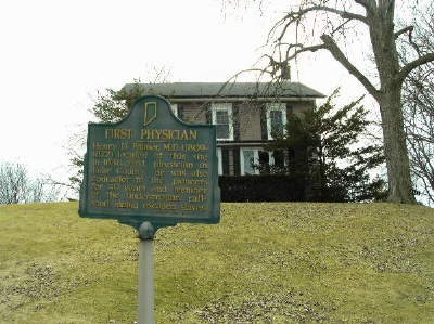 The house of Dr. Henry D. Palmer was built in 1836.