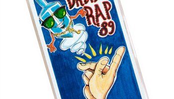 """The flip side of the """"Dreidel Rap '89"""" cassette is a """"Kosher Basement Mix"""" of the same song."""