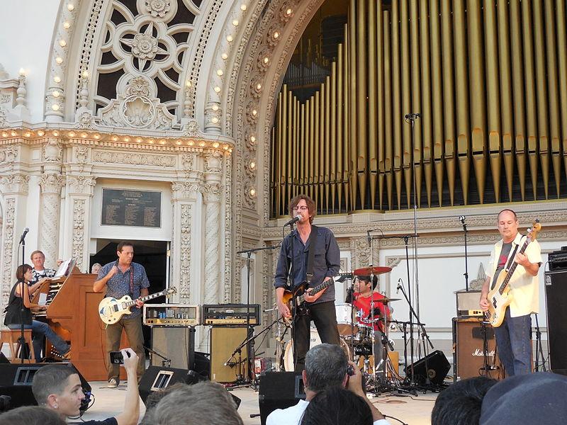 Drive Like Jehu in August 2014 in Balboa Park, San Diego, with organist Carol Williams