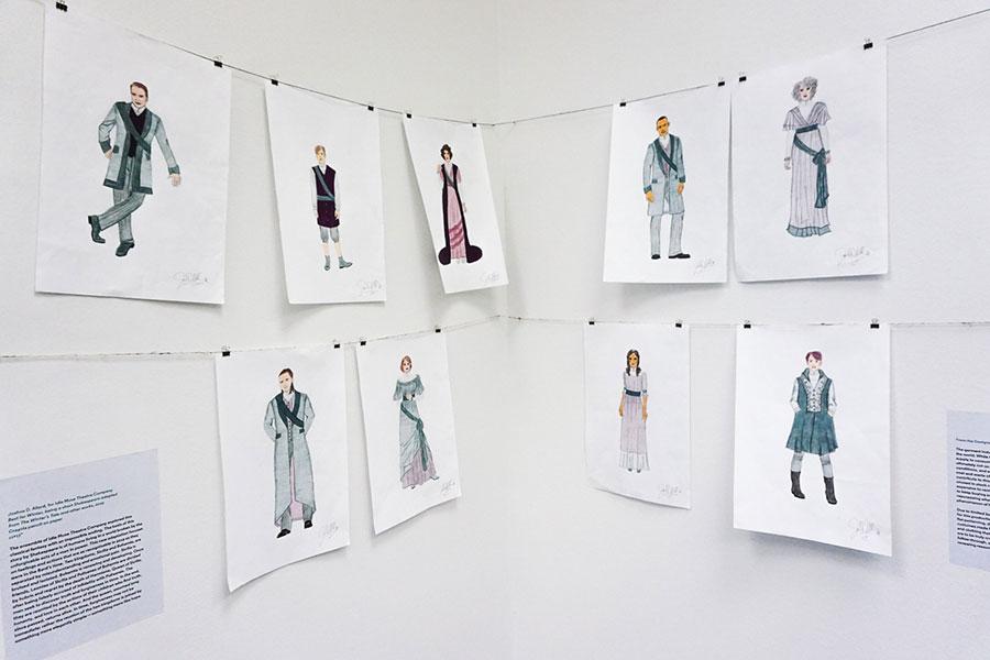 Joshua Allard's costume designs for <i>Best for Winter</i> at Idle Muse Theatre Company