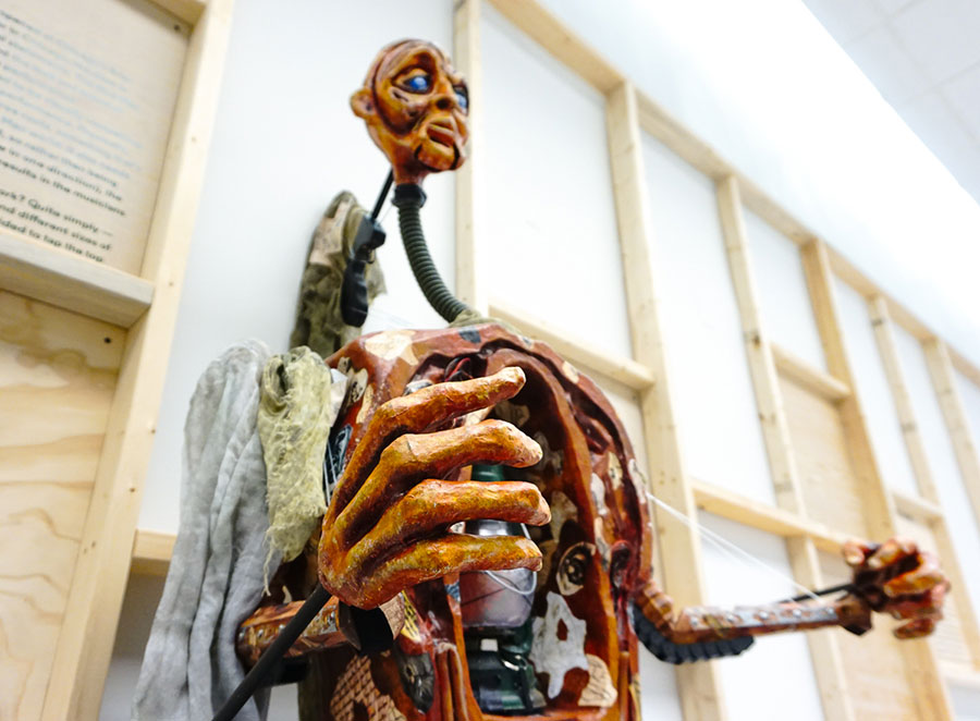 A puppet from Lifeline Theatre production of <i>Frankenstein</i>, designed by Cynthia Von Orthal
