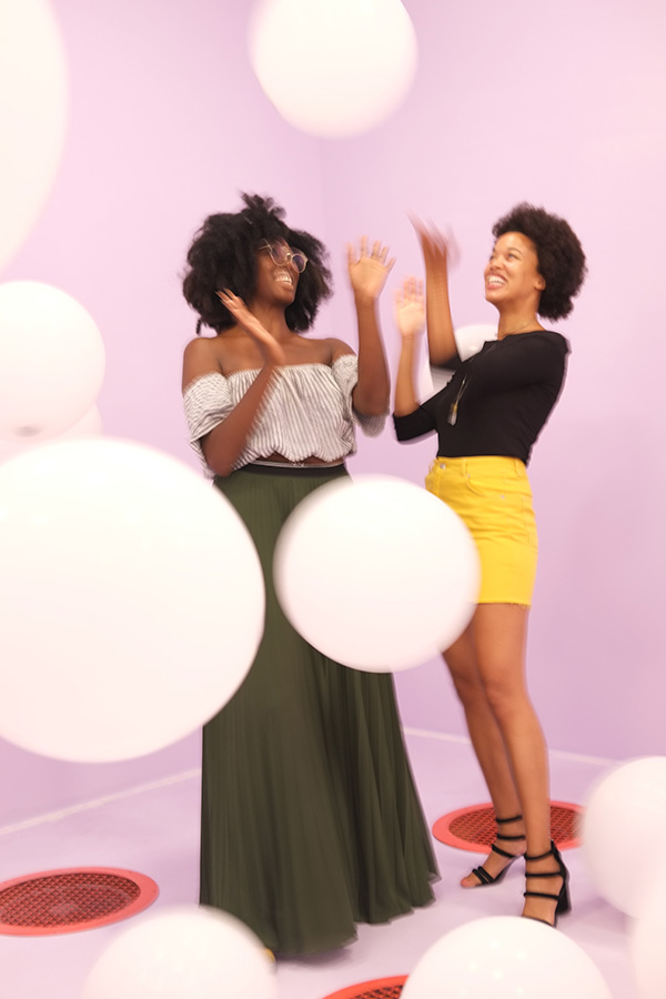 Chelsea Frazier, 30, writer and scholar,  and Lauren Ash, founder and executive director of the well-being website Black Girl in Om