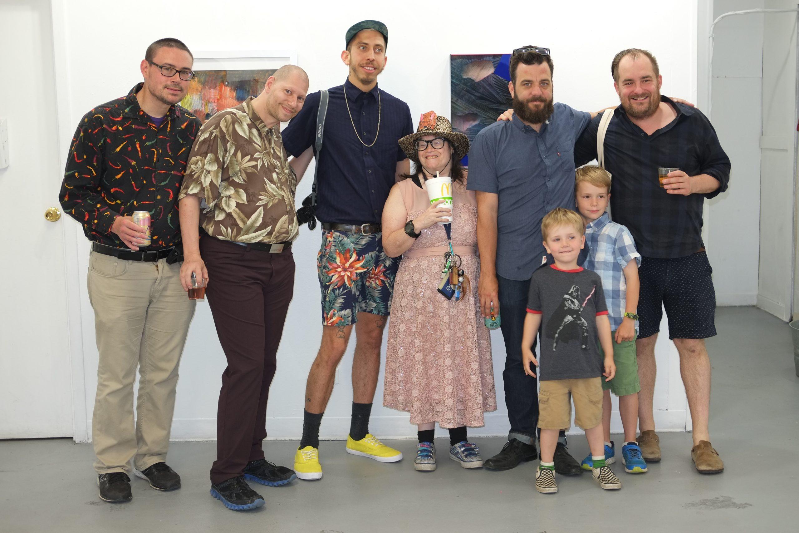 Tim Stone, Kris Shenkel, Vincent Uribe, Jean Wilson, Zachary Buchner and his kids, and Andrew Rafacz
