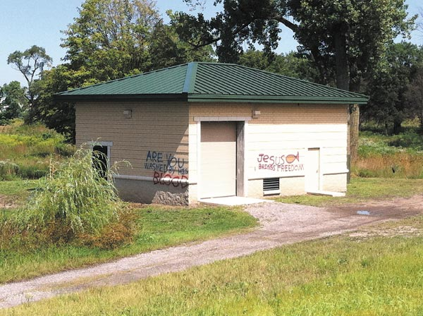 A building on the Erie Lackawanna Trail