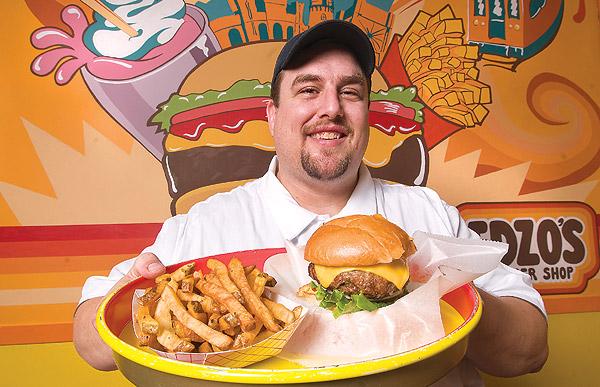 Eddie Lakin at Edzo's Burger Shop