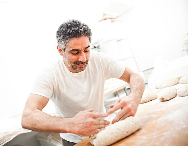 Ehsan Ganji at work at Flourish Bakery Cafe