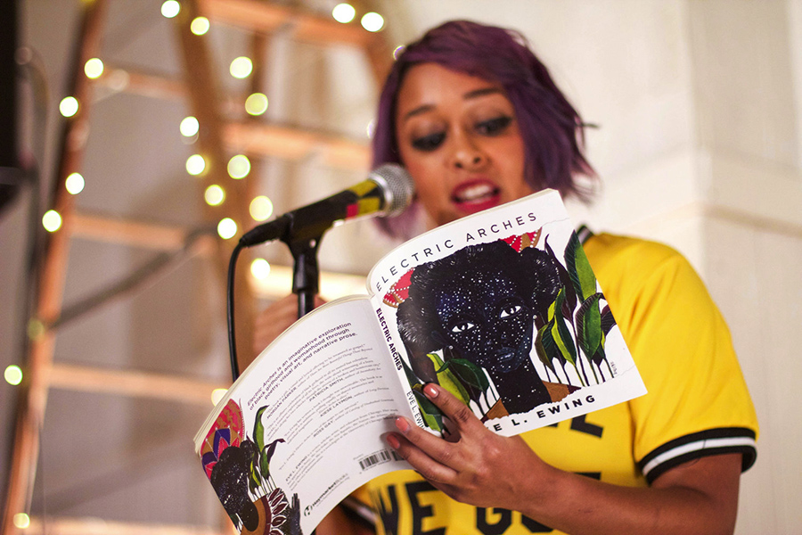 Eve Ewing at the release party for <i>Electric Arches</i>