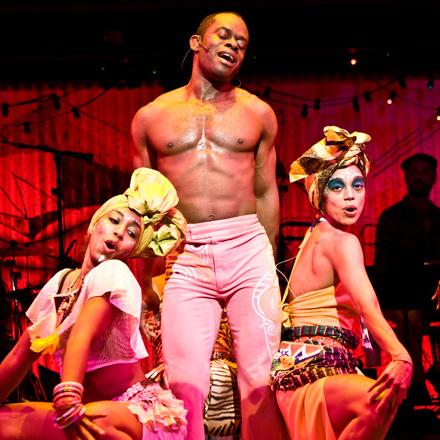 Sahr Ngaujah plays the politically active Afrobeat musician Fela Kuti in Fela!
