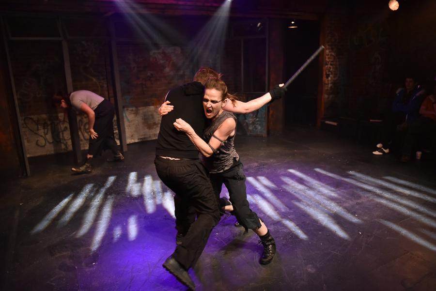 Harrison Weger and Megan Schemmel in <i>Fight City</i>