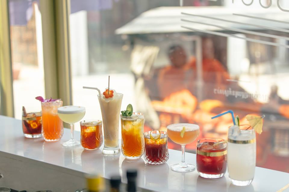 The full lineup of Le Boutier cocktails