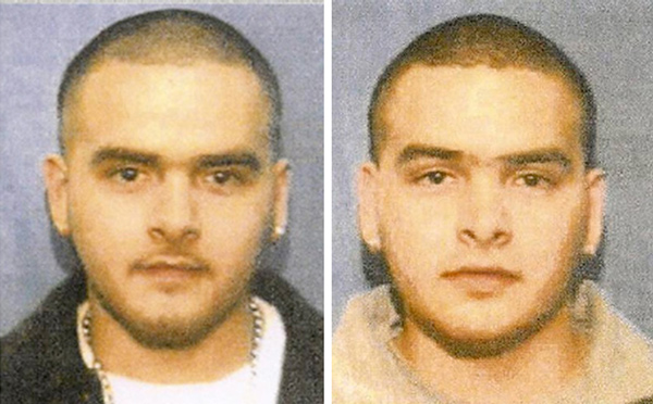 Mug shots of twin brothers Pedro and Margarito Flores, taken in 2009