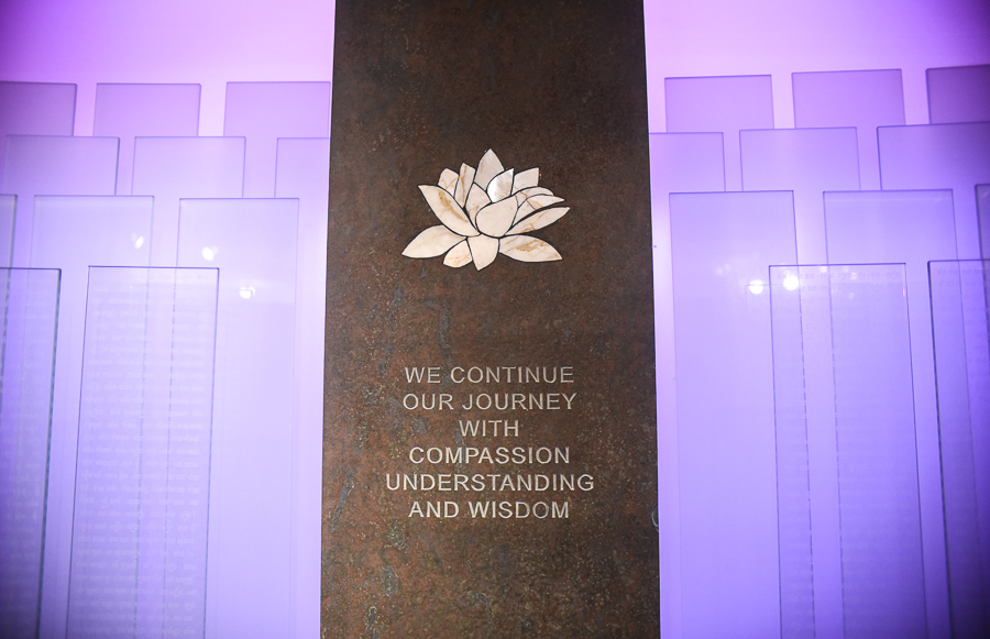 The centerpiece of the Killing Fields Memorial
