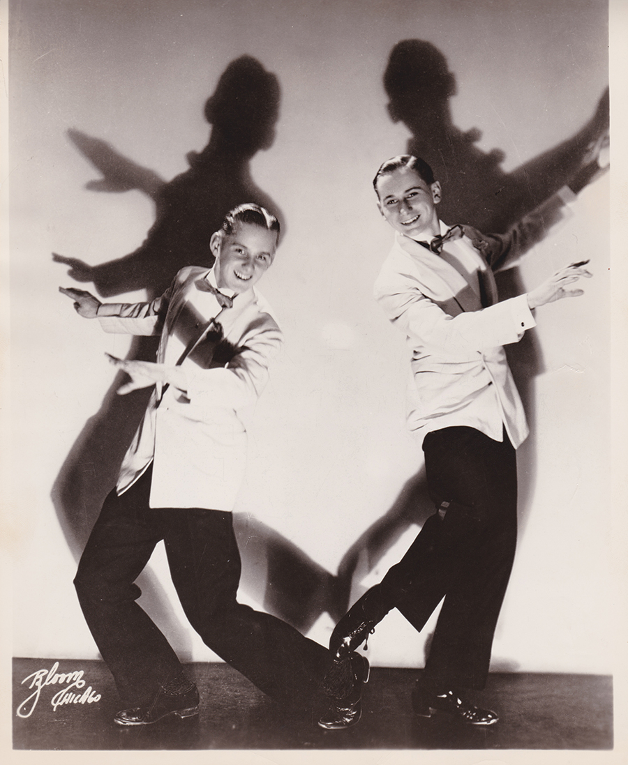 Bob Fosse (left) and Charles Grass as the Riff Brothers, 1943
