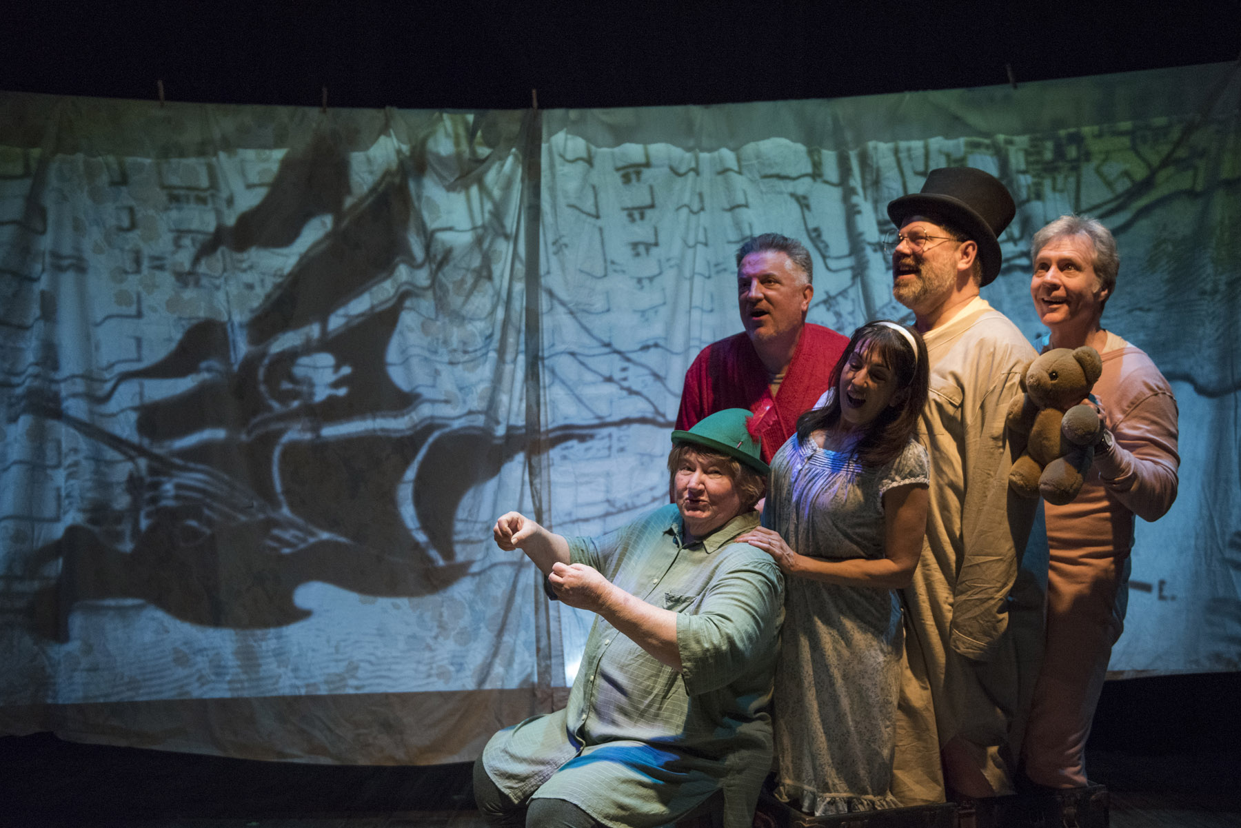 Shattered Globe Theatre's <i>For Peter Pan on Her 70th Birthday</i>