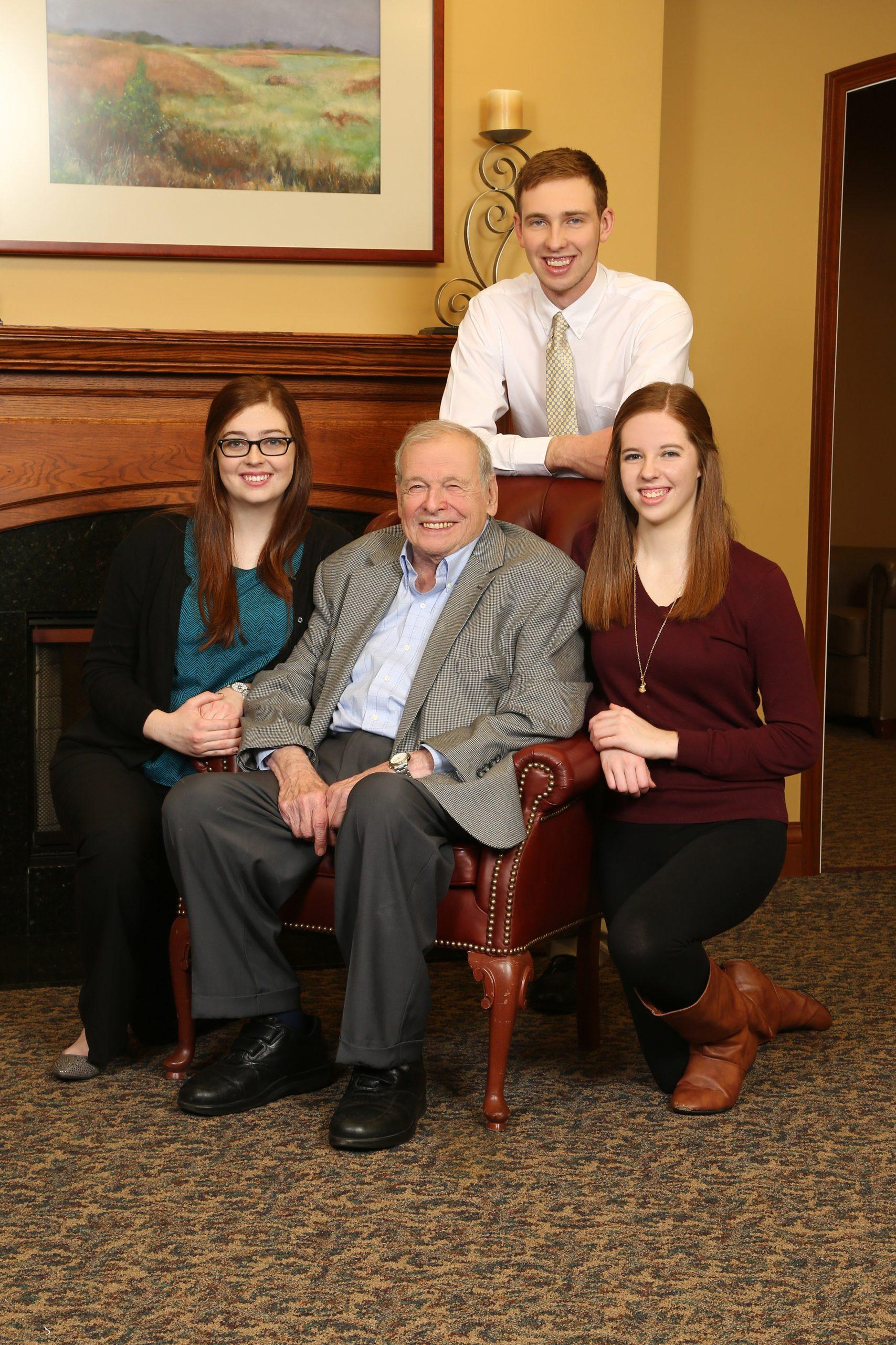 Peter Braunfeld and his grandchildren