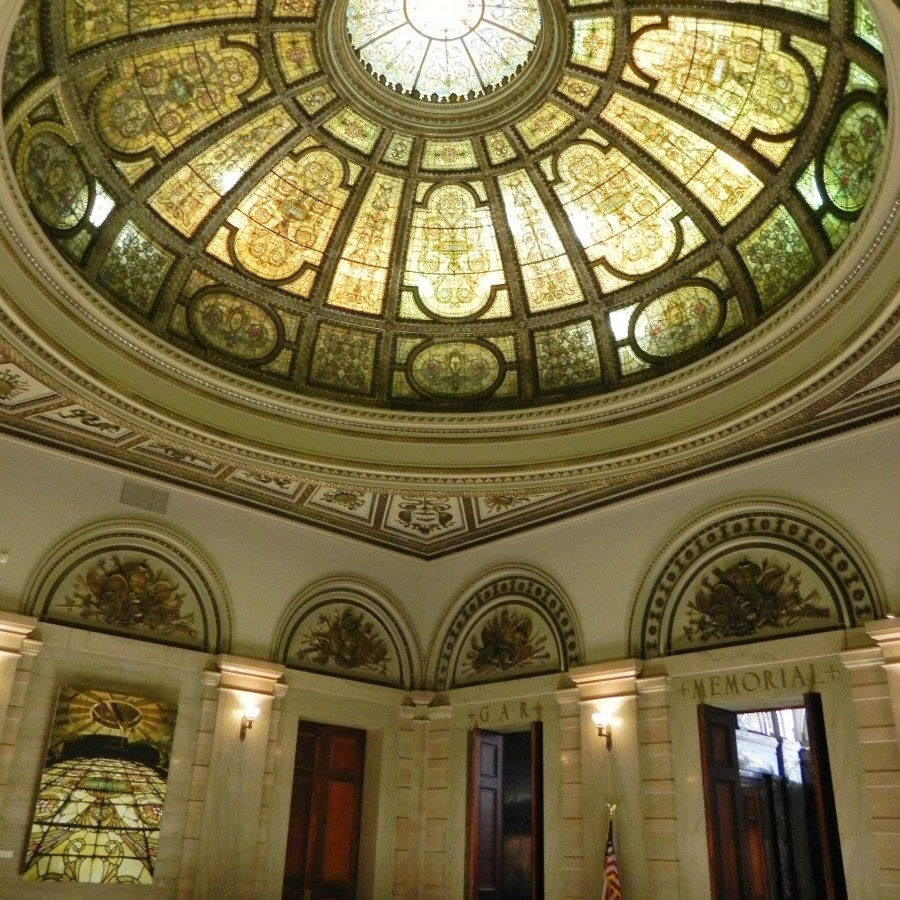 The dome in the Grand Army of the Republic Rotunda