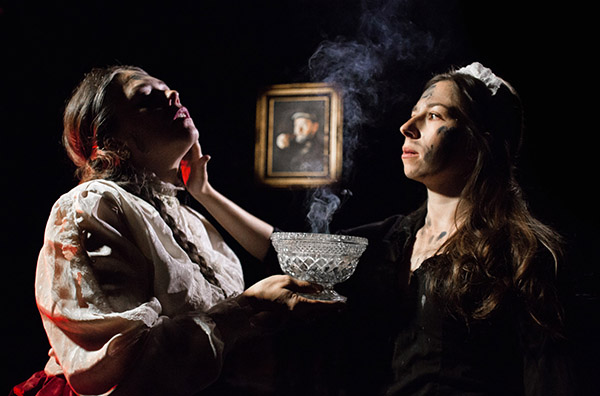Carolyn Hoerdemann and Catherine Lavoie in Mary-Arrchie's <i>Ibsen's Ghosts</i>