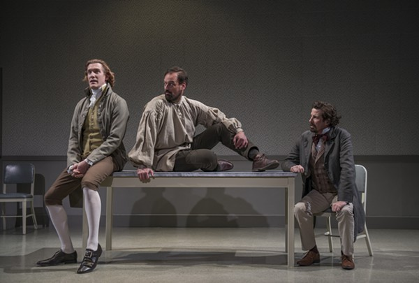 <i>The Gospel According to Thomas Jefferson, Charles Dickens, and Count Leo Tolstoy: Discord</i>, at Northlight Theatre