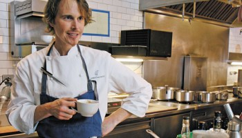 Grant Achatz samples the finished Kluwak Tom & Jerry