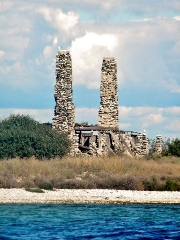 Ruins of the home built on Gull Island