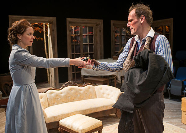 Kate Fry and Mark L. Montgomery in Hedda Gabler