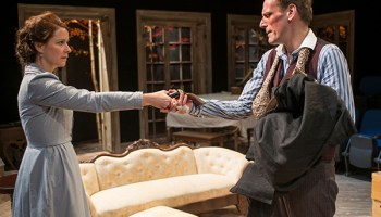 Kate Fry and Mark L. Montgomery in <i>Hedda Gabler</i>
