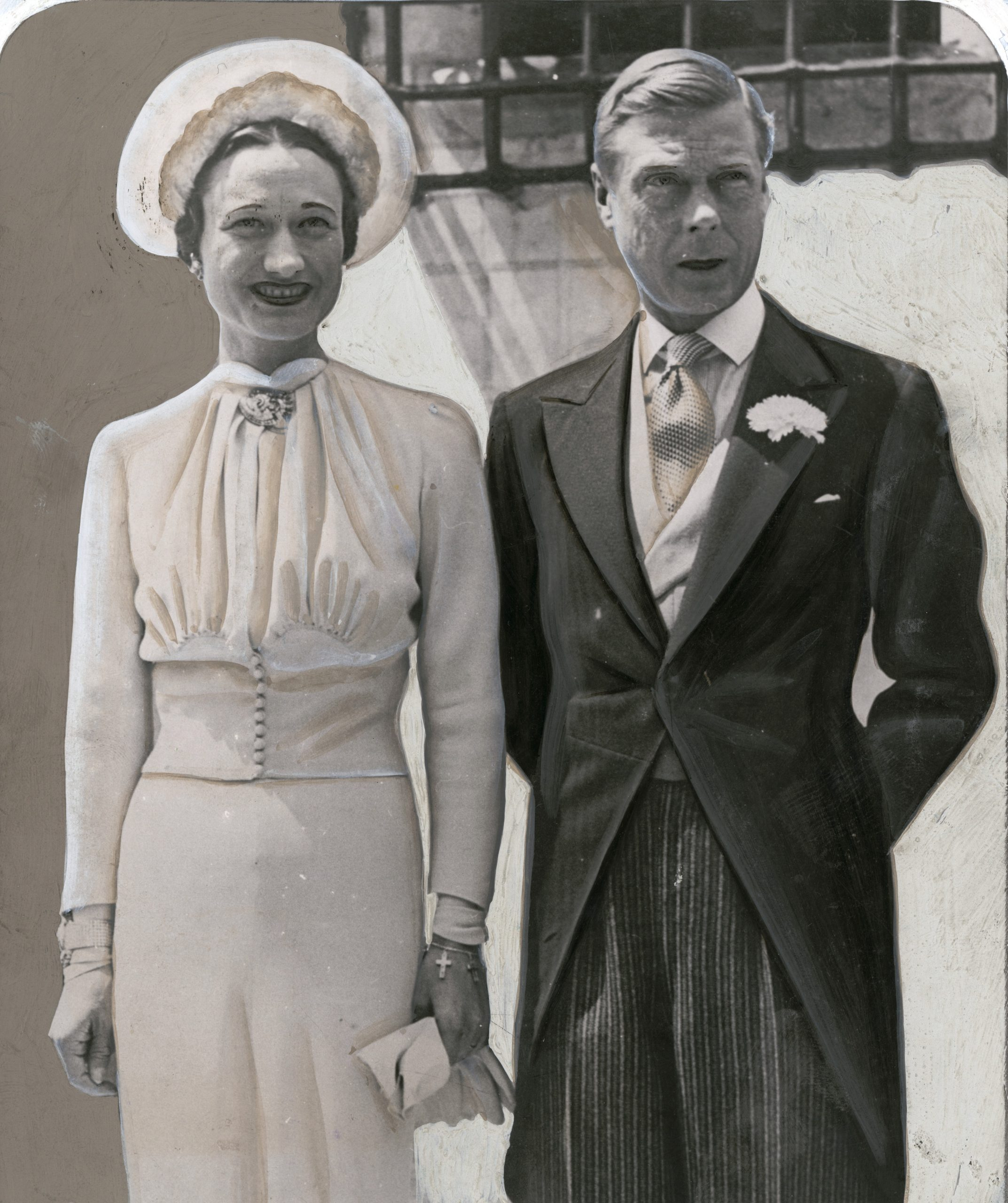Wallis Simpson and the former King Edward VIII on their wedding day