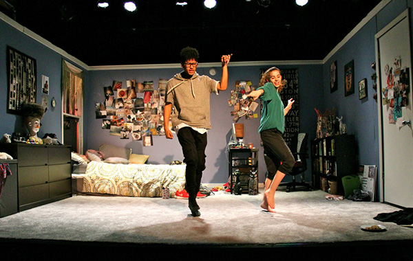 Tevion Lanier and Olivia Shine in <i>I & You</i>, coproduced by Jackalope Theatre and the Yard